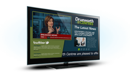 Using scrolling messages with Live Freeview TV you can talk to all of your visitors, staff and customers and keep them informed in a modern and engaging way