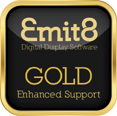 Emit8 Gold Enhanced Support gives you your own digital information display system with all the support of an outsourced solution