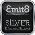 Emit8 Silver Enhanced Support delivers extended support for more involved and diverse digital display projects